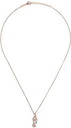 As 29 18kt rose gold Mini Charm Seahorse diamond necklace