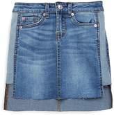 7 For All Mankind Girl's Hi-Lo Denim Skirt