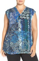 Sejour Plus Size Women's Extended Shoulder Top