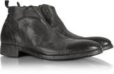 Forzieri Ebony Washed Leather Boots