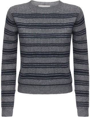 Max Mara Striped Wool & Cashmere Rib Knit Sweater