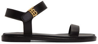 Burberry Black Renshaw Flat Sandals