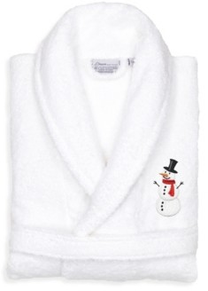 Linum Home Snowman Design Embroidered Terry Bathrobe Bedding