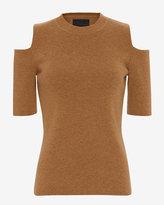 Exclusive for Intermix Cold Shoulder Knit Top: Burnt Orange