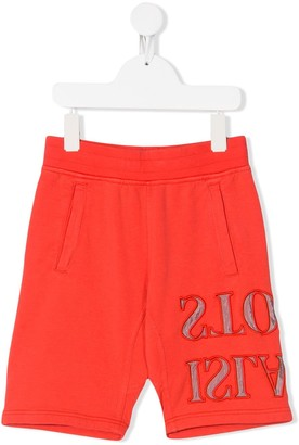 Stone Island Junior Reverse Logo Printed Shorts