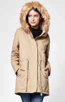 La Hearts Faux Fur Hooded Anorak Jacket