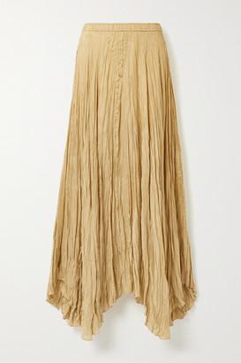 Joseph Nanco Crinkled Silk-satin Maxi Skirt - Sand