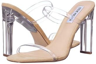 Steve Madden Andrina Heeled Sandal (Clear) Women's Shoes