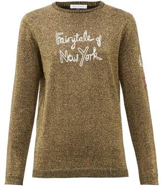 Bella Freud Fairytale Of New York Wool-blend Metallic Sweater - Womens - Gold