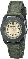 Sprout Women's ST/1048GYGYDG Dark Green Organic Cotton Strap Bamboo Dial Watch
