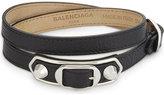 Balenciaga Metallic Edge leather bracelet