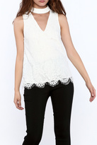 Do & Be White Lace Sleeveless Top