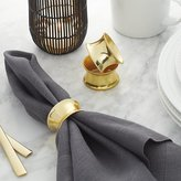 Crate & Barrel Emerson Gold Napkin Ring