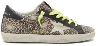Golden Goose Superstar Leopard-print Suede Trainers - Leopard