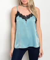 Seafoam & Black Lace Camisole