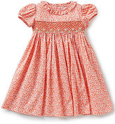 Edgehill Collection Baby Girls 12-24 Months Smocked Floral Ditsy Print Dress