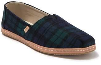 Toms Alpargata Plaid Cotton Canvas Slip-On Sneaker