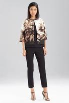 Josie Natori Printed Spring Cotton Jacket