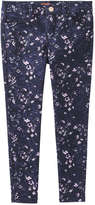 Joe Fresh Kid Girls' Floral Pant, JF Midnight Blue (Size 14)