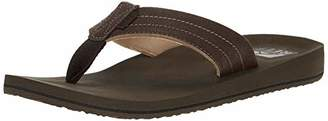 Reef Men's Sandal Twinpin Lux |Comfortable Men's Flip Flop with Vegan Leather Upper | | Size