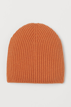 H&M Ribbed wool-blend hat