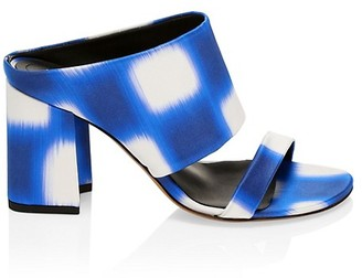 Dries Van Noten Stephen Stripe Block-Heel Sandals