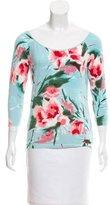 Blumarine Long Sleeve Floral Print Top