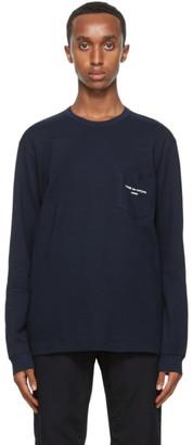 Comme des Garçons Homme Navy Logo Long Sleeve T-Shirt