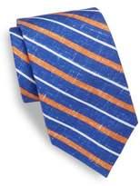 Isaia Striped Silk Tie