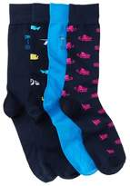Tommy Bahama Reel Time Crew Socks - Pack of 4