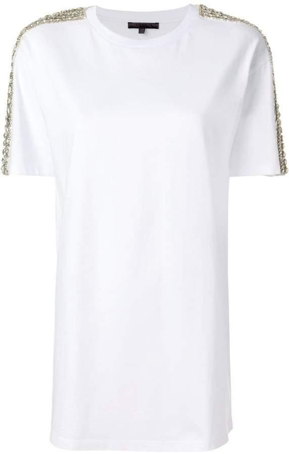 Amen gemstone embellished short sleeve T-shirt