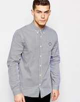 Pretty Green Shirt With Gingham Check - Blue