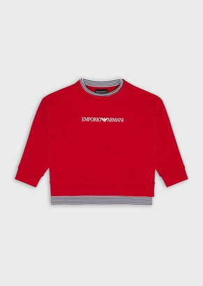 Emporio Armani Sweatshirt With Logo Print On Front And Back