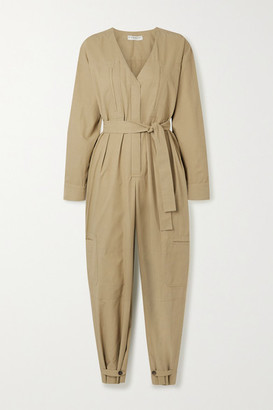 Givenchy Belted Woven Jumpsuit - Beige