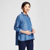 A New Day Women's Oversized Tenel Shirt - A New Day Medium Indigo