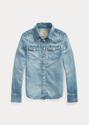 Ralph Lauren Cotton Denim Western Shirt