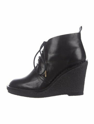 Marc by Marc Jacobs Leather Lace-Up Boots Black