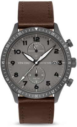 Vincero Watches The Altitude - Matte Gray/Brown
