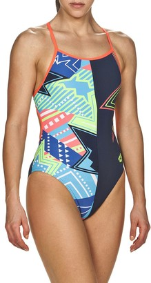 Arena Plus Size Lightshow Accelerate Back Performance One-Piece Swimsuit