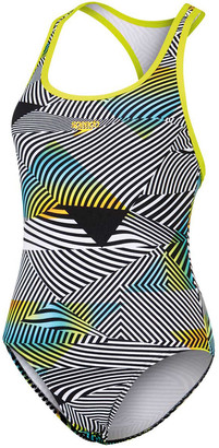 Speedo Womens Gen Y Stripes One Piece Swim Suit