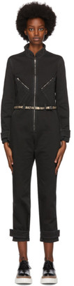 Stella McCartney Black Denim Logo Jumpsuit