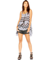 Free People Lace-Trim Printed Trapeze Dress