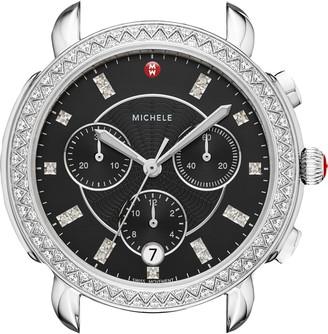 Michele Sidney Chrono Diamond Dial Watch Case, 38mm