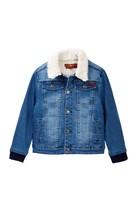 7 For All Mankind Faux Shearling Denim Jacket (Big Boys)