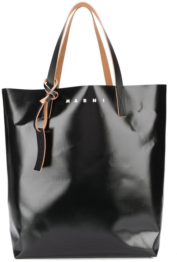 Marni Camo Cell print coated shopping bag