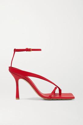 Bottega Veneta Leather Sandals - Red