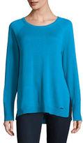 Calvin Klein Side Slit Crew Neck Sweater