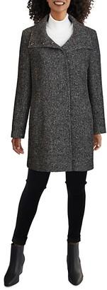 Cole Haan Herringbone Wool-Blend Coat
