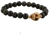 Skull and Gold Bead Bracelet