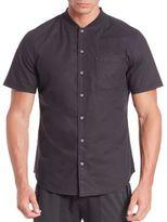 Madison Supply Short-Sleeve Baseball Collar Shirt
